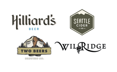 Thanks to Hilliards Beer for their amazing support. Plus Two Beers & Seattle Cider - new 2015 sponsors!