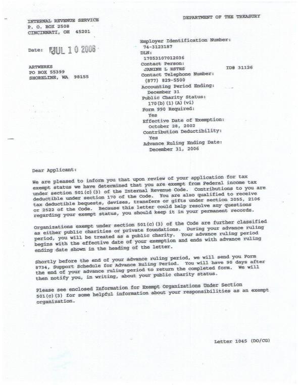 Abbey IRS 501c3