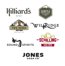 Thanks to Hilliards Beer, Seattle Cider, Two Beers, Wilridge Winery, Sound Spirigs, Schilling Cider & Jones Soda for their amazing support. Plus Two Beers & Seattle Cider - new 2015 sponsors!