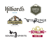 Thanks to Hilliards Beer, Wilridge Winery, Sound Spirits, Schilling Cider for their amazing support. Plus Two Beers & Seattle Cider - new 2015 sponsors!