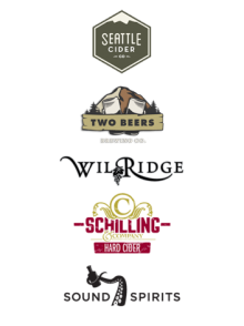 Thanks to Two Beers, Seattle Cider, Wilridge Winery, Sound Spirits, Schilling Cider for their amazing support.