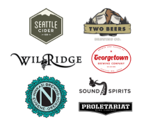 Thanks to Two Beers, Seattle Cider, Georgetown, Wilridge Winery, Sound Spirits, Ninkasi, Proletariat for their amazing support.